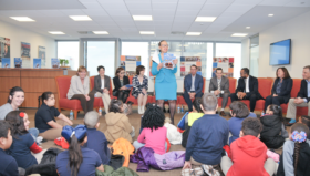 Independence hosts executive storytelling hour for first graders at Isaac A. Sheppard Elementary School