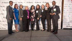 Independence Blue Cross Human Resources associates accepting the Excellence Award for Diversity at the HR Department of the Year Awards