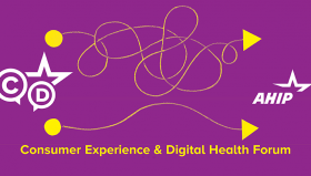 Logo for the AHIP Consumer Experience & Digital Health Forum