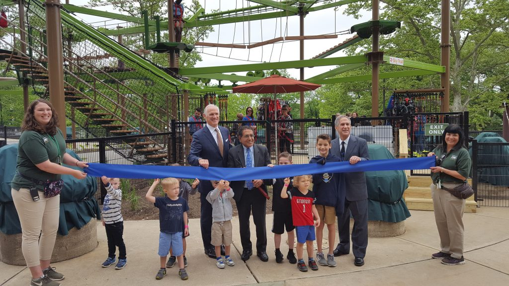 Ribbon Cutting ceremony for WildWorks rope course at Philadelphia Zoo