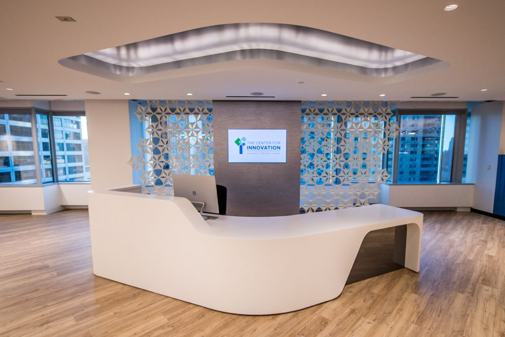 13th Floor Center for Innovation Reception Desk