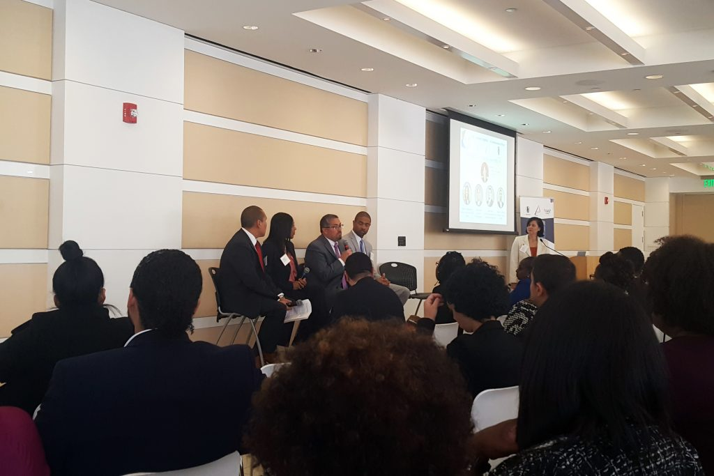 Juan Lopez speaking during the panel discussion at the 2019 ERG Summit