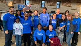 Group photo shows Independence Blue Crew volunteers at Girard College for Martin Luther King, Jr. Day of Service.