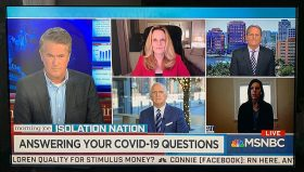 Dan Hilferty and panel of 3 medical experts with Morning Joe host Joe Scarborough