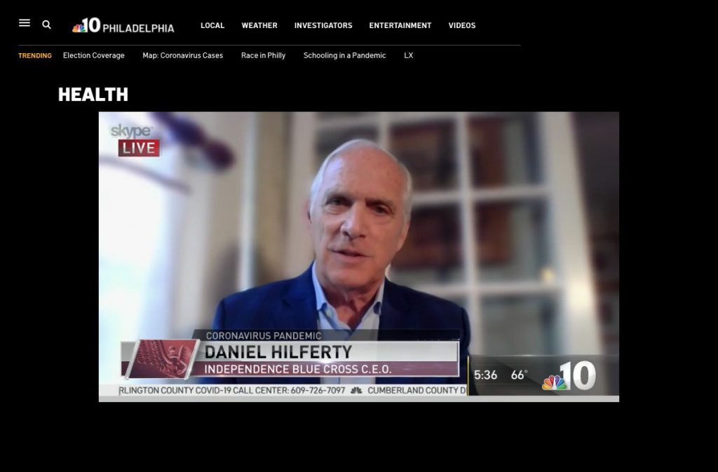 Screengrab of Dan Hilferty on NBC10