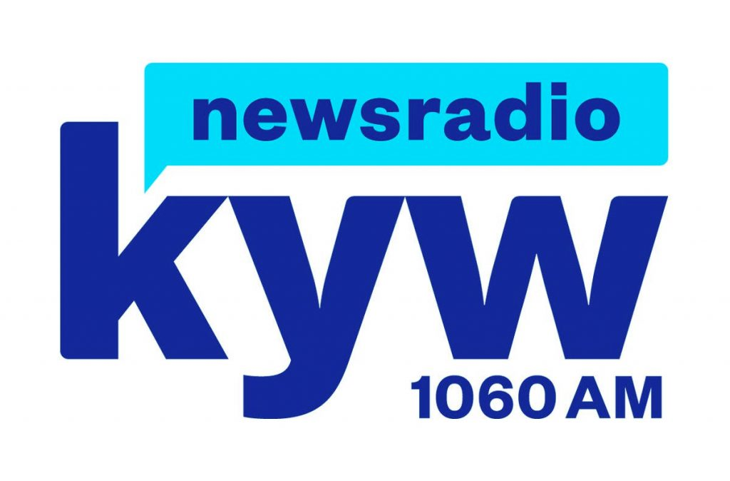 KYW Newsradio 1060 AM logo - blue on white
