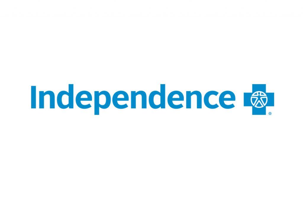 blue Independence Blue Cross logo on white background