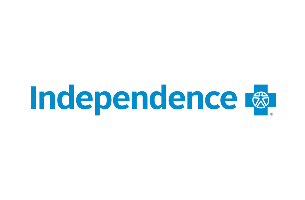 blue Independence Blue Cross logo on white background