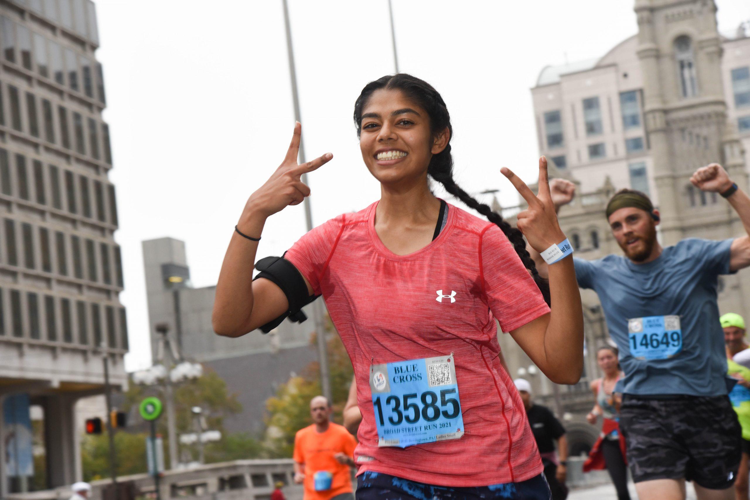 Photo of runners at 2021 Blue Cross Broad Street Run